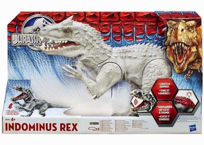 JUGUETES - JURASSIC WORLD  Indominus Rex | luces y sonidos | Dinosaurio | Figura - Muñeco  Producto Oficial Película 2015 | Hasbro B1276| A partir de 4 años