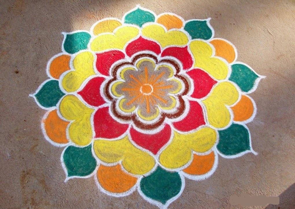 Diwali rangoli happy diwali pics for Home made rangoli designs