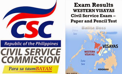 Region 6 - Civil Service Exam Results