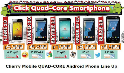 Cherry Mobile Quad-Core Android Smartphone Price List for 2013. FLAME