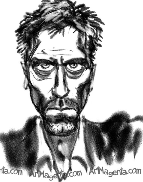 Hugh Laurie is a caricature by caricaturist Artmagenta