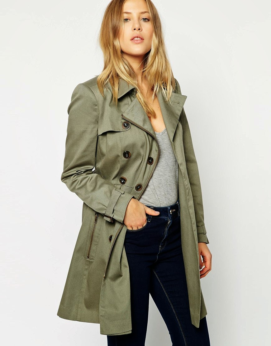 khaki mac, khaki zip coat,