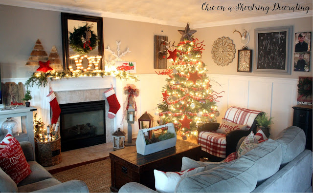 Farmhouse Rustic Christmas Decor, Chic on a Shoestring Decorating