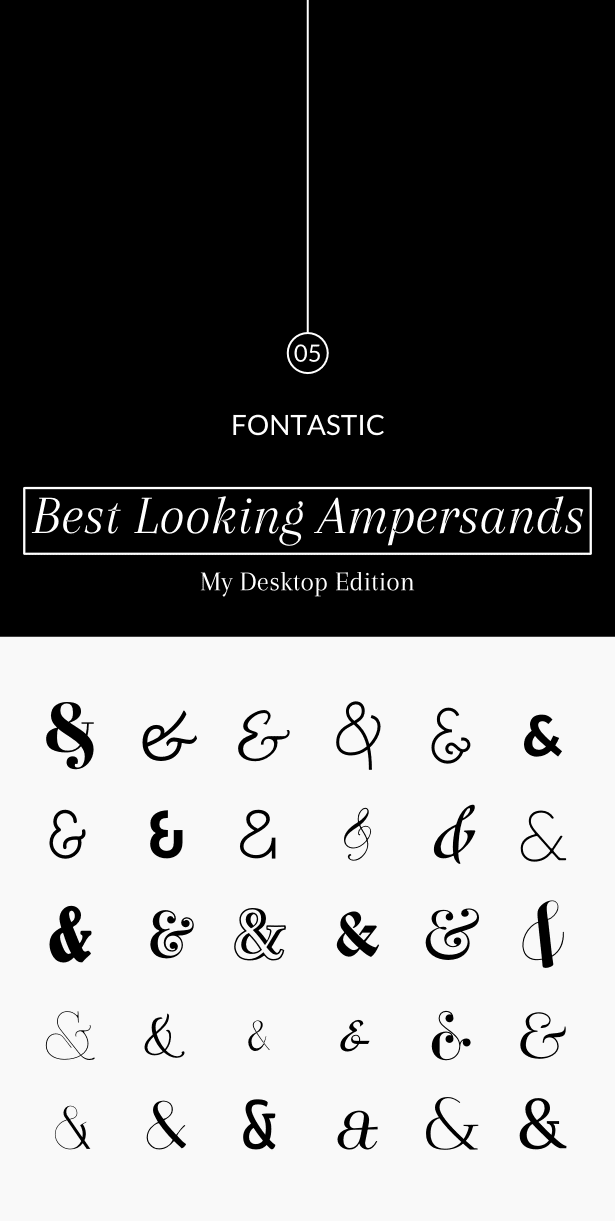 Fontastic 05: Best Looking Ampersands (My Desktop Ed.) - yuniquelysweet.blogspot.com