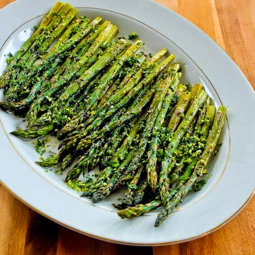 Roasted Asparagus Recipe With Creamy Tahini-Peanut Dipping Sauce ...