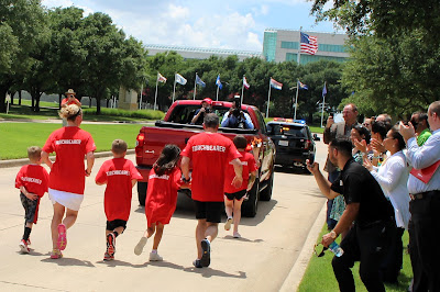 Special Olympics Flame of Hope Arrives at Toyota Headquarters in Plano