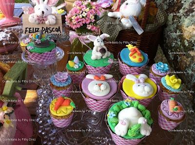 coelhos cups Páscoa da Confeitaria: Porque você é ESPECIAL!