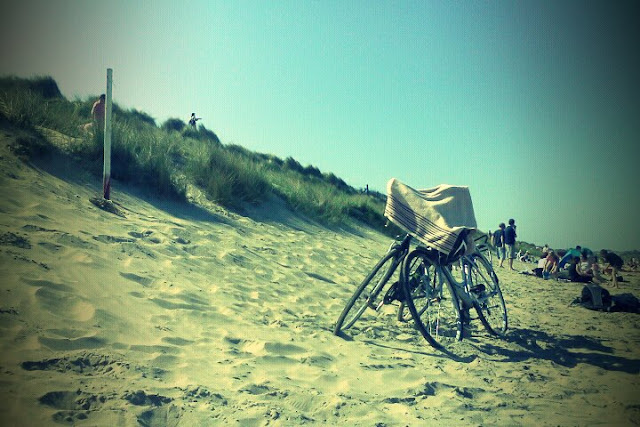our bicycles in the portmarnock beach