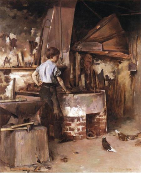 Black Smith Workshop Painting