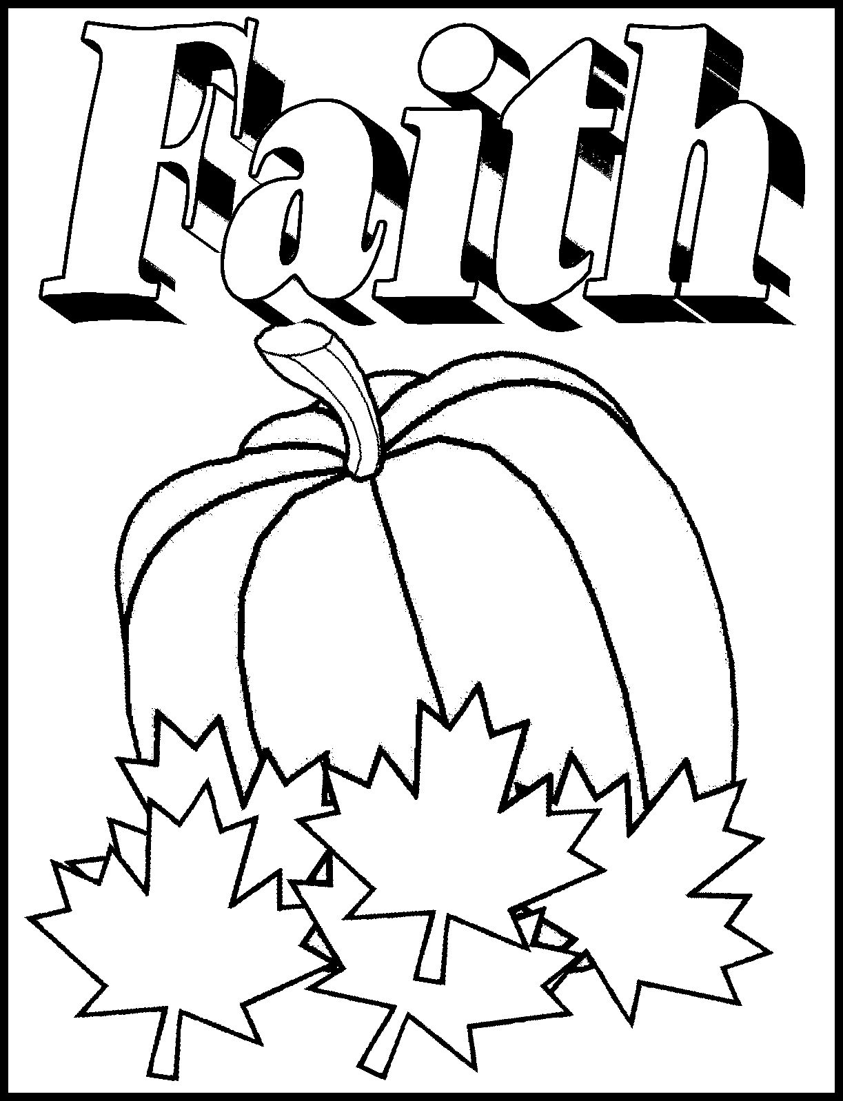 christian pumpkin coloring pages - photo#13