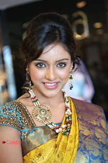 Vithika Sheru Pictures in Saree at Kalanikethan New Wedding Collections Event  0002