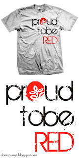 desain kaos, fateta, red, proud to be
