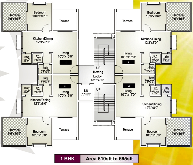 Ravi karandeekar 39 s pune real estate market news blog good for 1 bhk flat floor plan