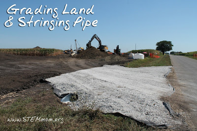 Grading the Land & Stringing Pipe: Oil Pipeline construction: STEMmom.org