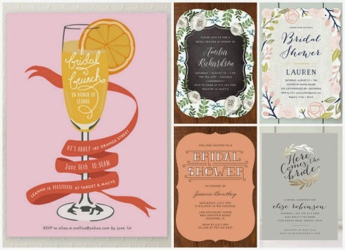 Minted bridal shower invitations