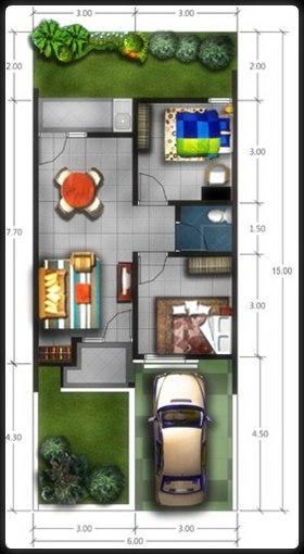 Judul: Denah dan model desain rumah minimalis type 45