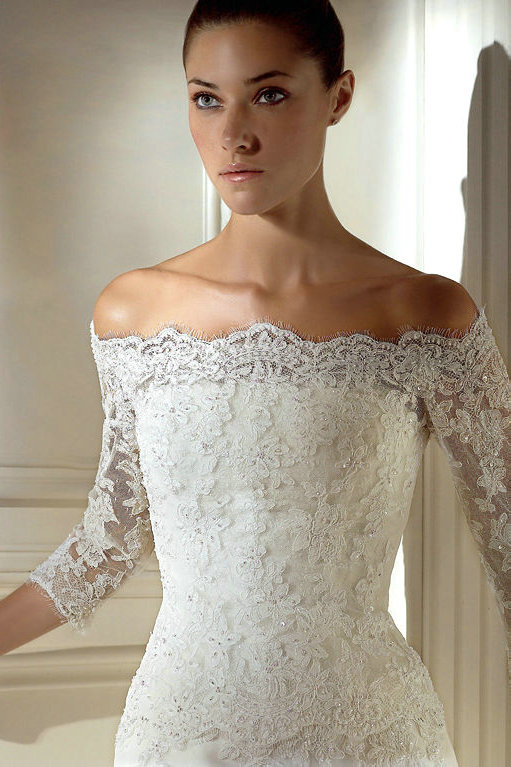 Beach Wedding Dresses Wedding Dresses With Sleeves Off The Shoulder