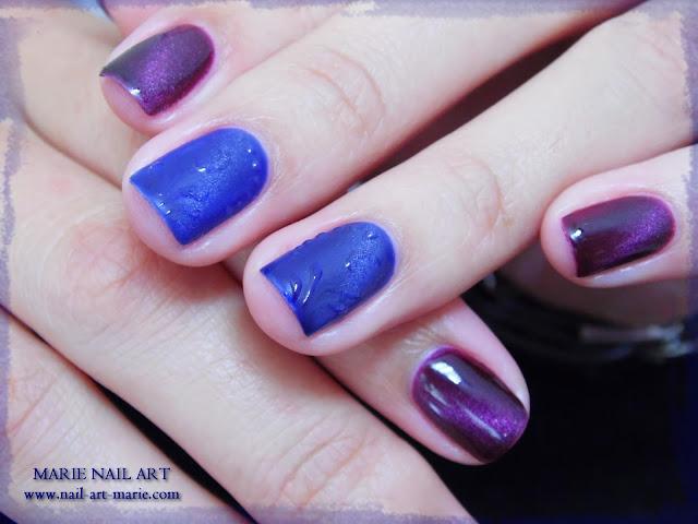 nail art avec semi-permanent effet oeil de chat10