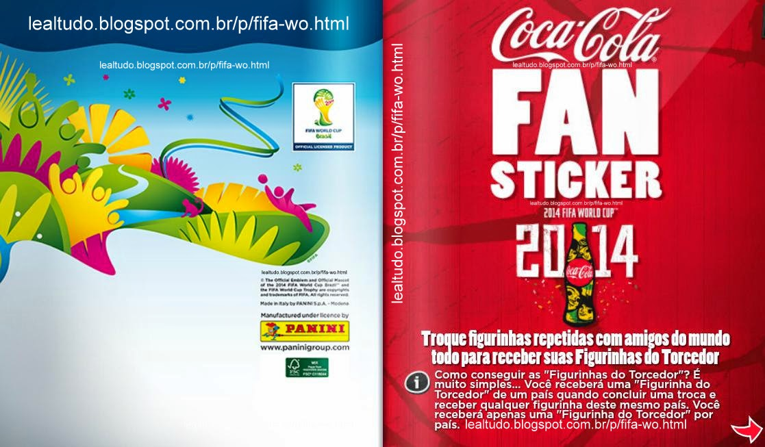 Album BACK AND FAN COVER Fifa World Cup BRAZIL 2014 LIVE COPA DO MUNDO Sticker Figurinha Download Lealtudo