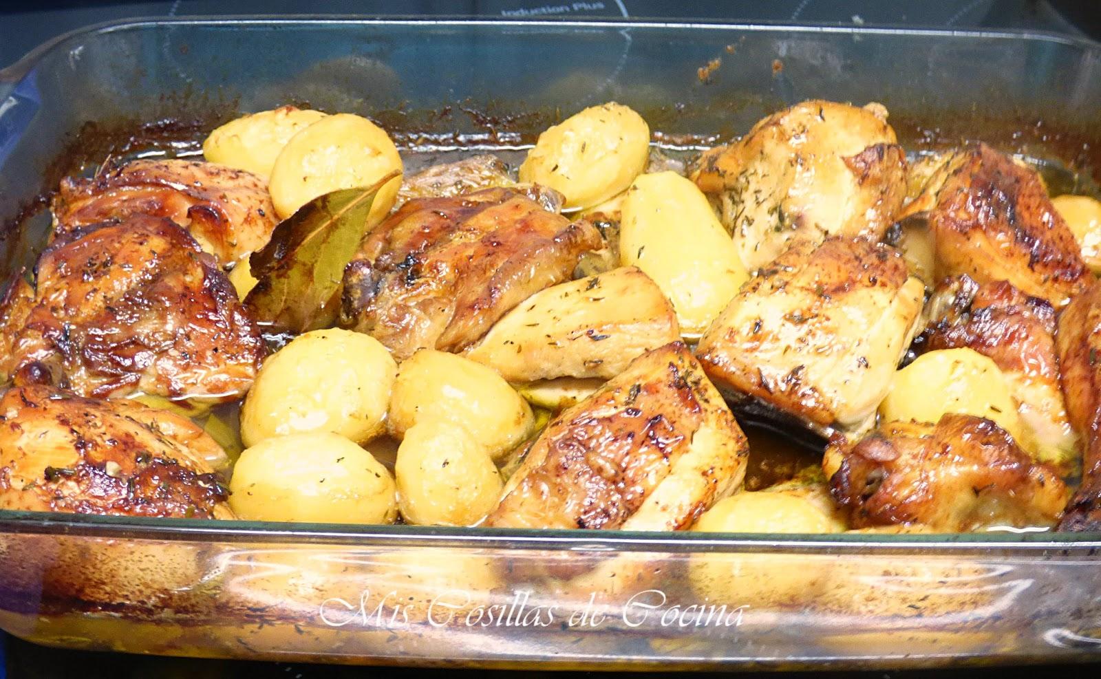 Pollo adobado al horno mis cosillas de cocina for Cocinar 2 muslos de pollo