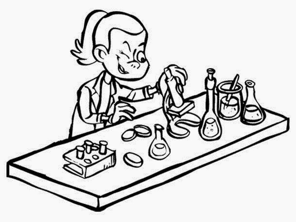 girl scientist coloring pages