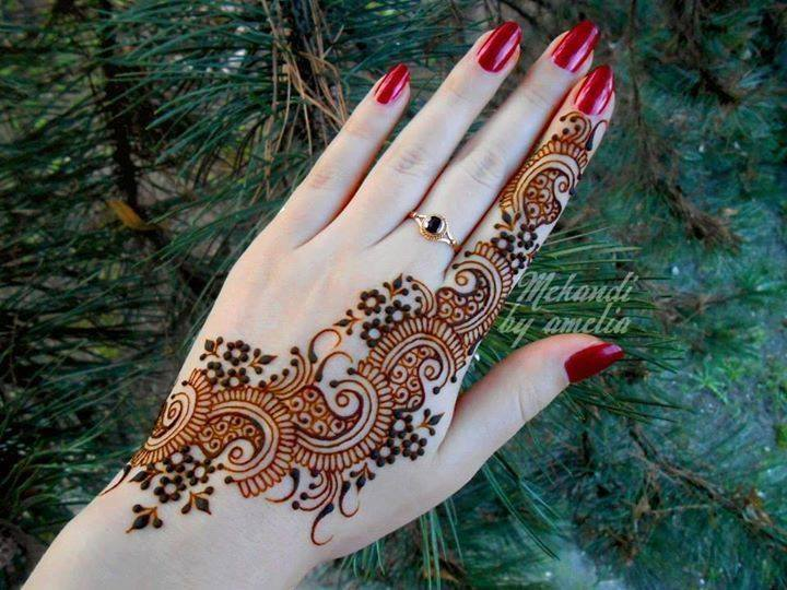 Simple Bridal Mehndi Designs Hd : Beautiful latest simple arabic pakistani indian bridal girl mehndi