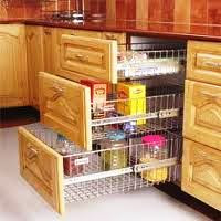 designed wooden laminated modular kitchen with three shelves