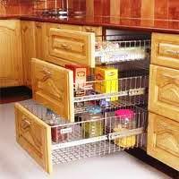 designed wooden laminated modular kitchen with three shelves