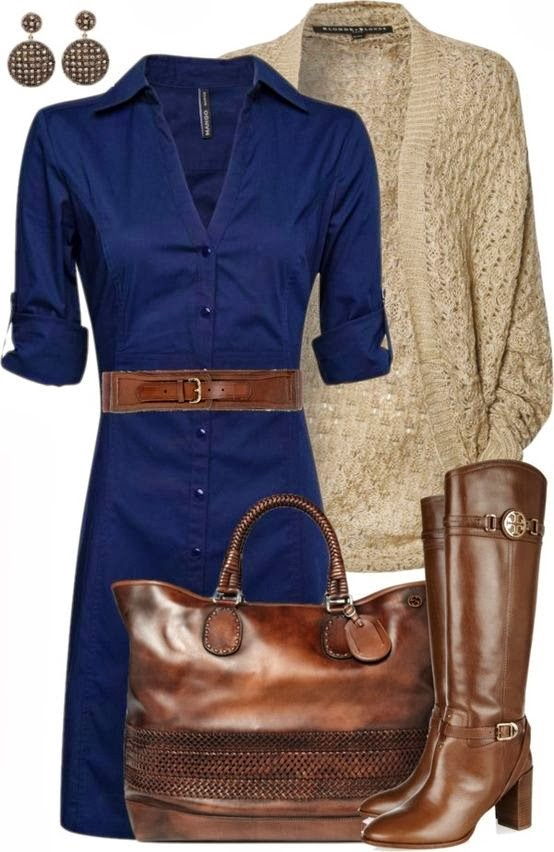 Work outfit fashion style with cardigan