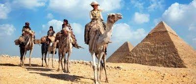 Adèle Blanc-Sec (Louise Bourgoin) en Egypte dans Adèle Blanc-Sec