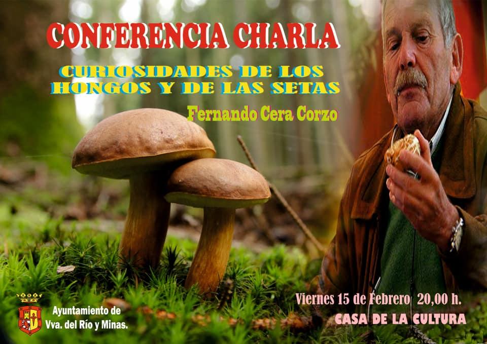 """CONFERENCIA CHARLA Y PROYECCIÓN """"CURIOSIDADES DE LOS HONGOS Y LAS SETAS"""""""