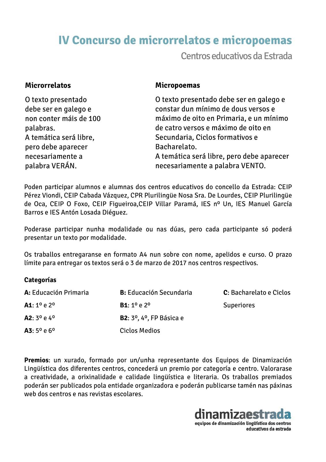 CARTEL IV CONCURSO LITERARIO