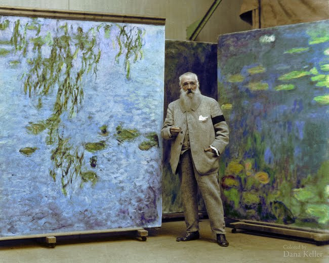 Claude Monet in 1923.