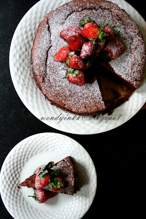 ... for 2.... or more: Flourless Nutella Souffle Cake - Nutella week #2