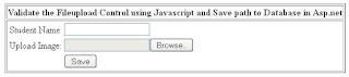 Validate Fileupload Control in Asp.net using Javascript