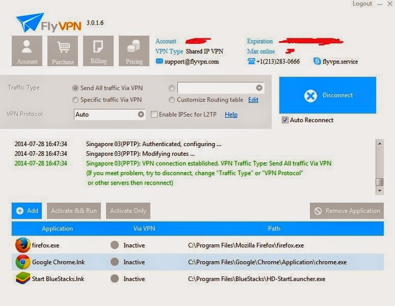 Connect To FlyVPN Singapore VPN To Play KUF2 SEA server