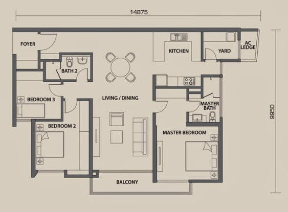 floor plan feng shui seri riana residence phase 2 wangsa maju type t9a. Black Bedroom Furniture Sets. Home Design Ideas