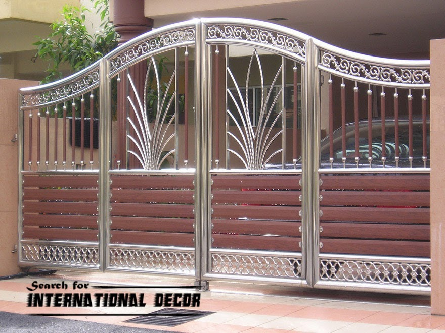 Choice of gate designs for private house and garage for International decor main gates