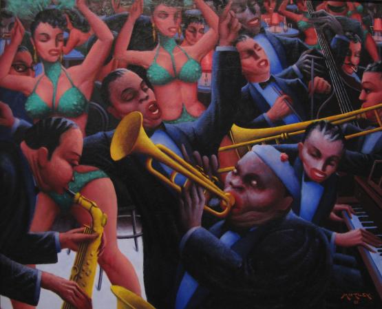 Archibald Motley painting - Hot-Rhythm