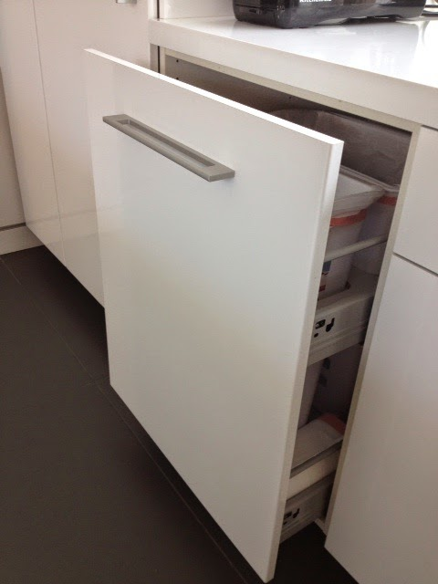 Non flimsy full height 24 wide recycling and trash cabinet ikea hackers - Ikea pull out trash bin ...