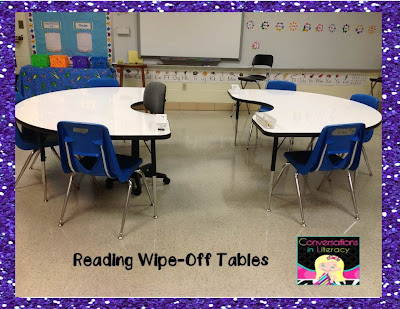 Reading Areas with wipe off tables