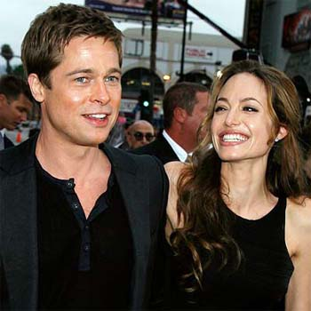 angelina jolie and brad pitt. angelina jolie and brad pitt.