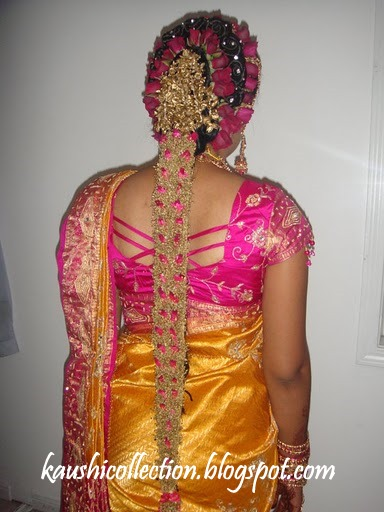 Poola Jada Designs http://kaushicollection.blogspot.com/2011/09/bridal-makeup-pula-jada.html