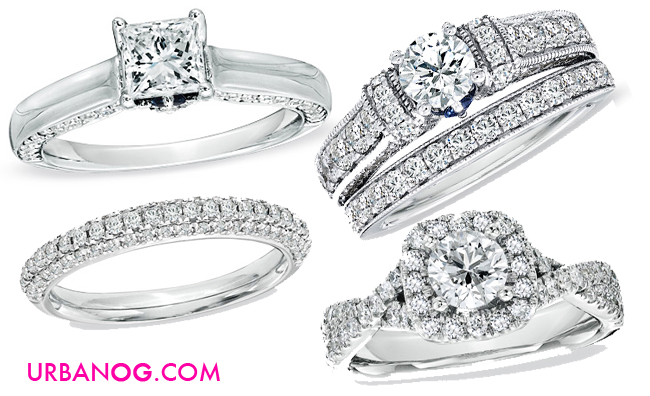 vera is no longer just the reigning queen of wedding gowns shes now all things love with her new collection of bridal jewelry for zales - Zales Wedding Rings For Her