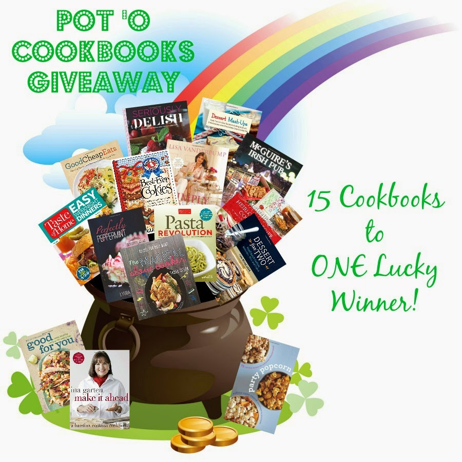 Pot 'O Cookbooks Giveaway- 15 cookbooks to ONE lucky winner! Ends 2/13/15.