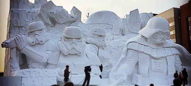 Kultur News - Star Wars als Schneeskulptur | In Japan denken sie groß