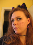 I did my cat makeup, put on some cat ears, and was ready to hit the town!