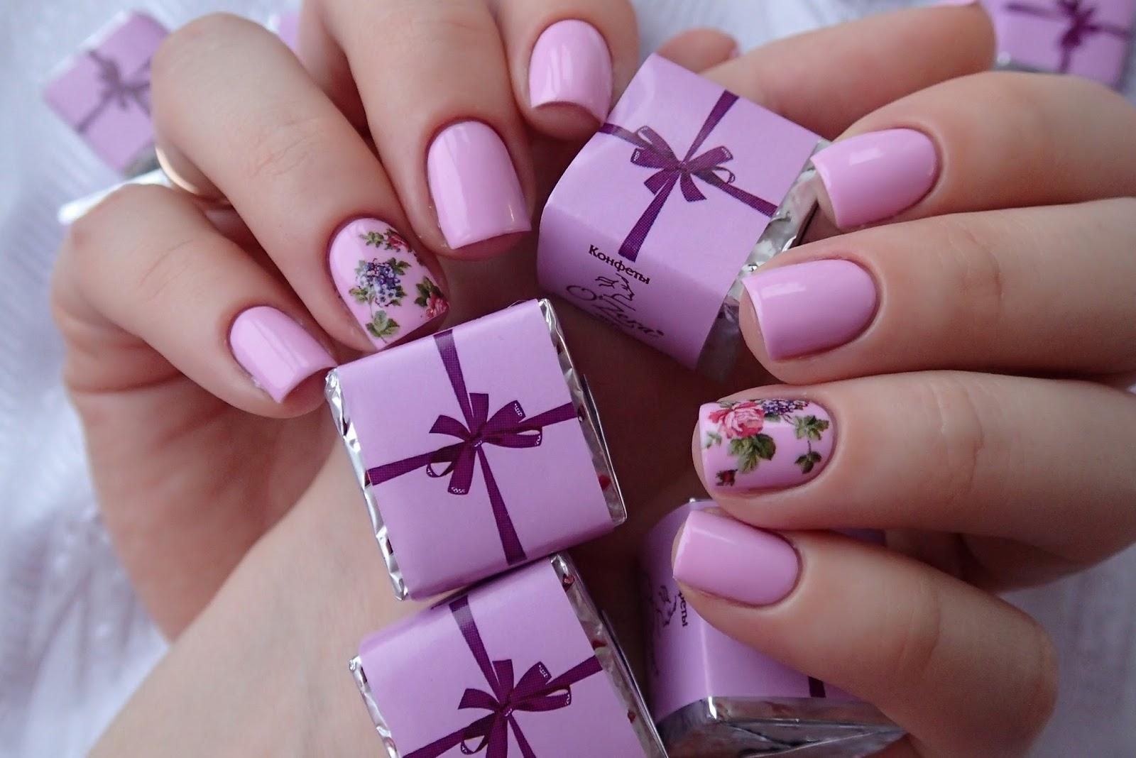 Лаванда дизайн ногтей