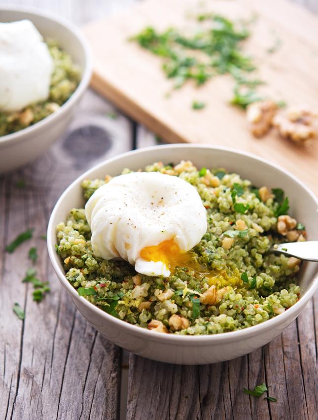 Quinoa Kale Pesto Bowls
