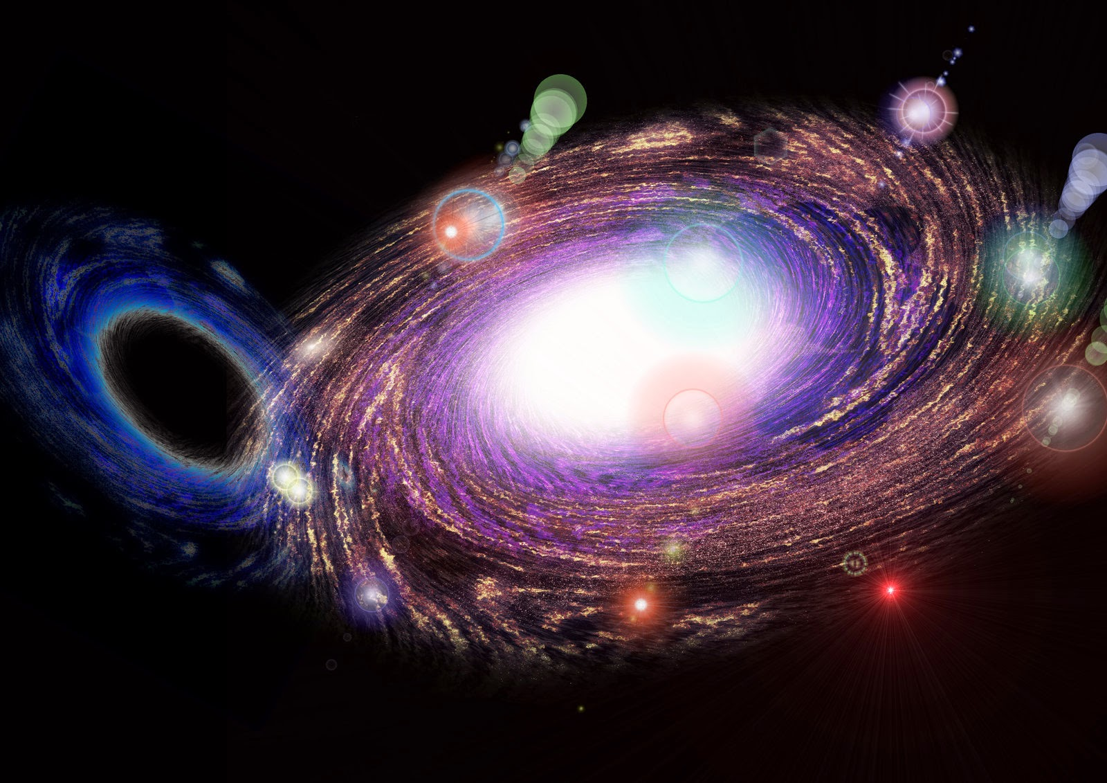 Matter and Antimatter galaxy